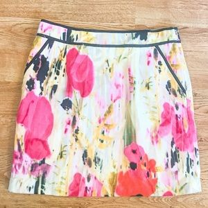 Anthropologie Tabitha Rain Poppy Floral Skirt 10
